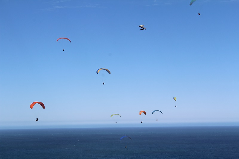 Paragliding Over Wilderness